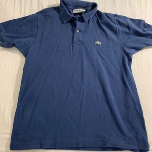 Blue Lacoste Polo - Size 5 Classic Fit